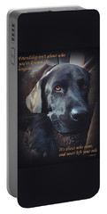 Custom Paw Print Midnight Portable Battery Charger