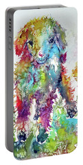 Cute Baby Goat In Grass Portable Battery Charger by Kovacs Anna Brigitta