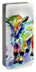 Cute Baby Goat Portable Battery Charger by Kovacs Anna Brigitta