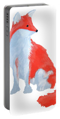 Cute Fox With Fluffy Tail Portable Battery Charger