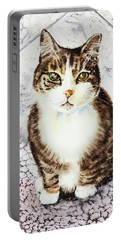 Cute Furry Friend Cat Painting Portable Battery Charger