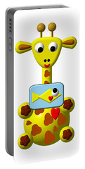 Cute Giraffe With Goldfish Portable Battery Charger