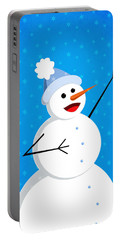 Cute Happy Snowman Portable Battery Charger