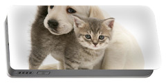 Cute Kitten And Perfect Puppy Portable Battery Charger