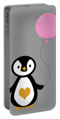 Cute Penguin With Balloon Portable Battery Charger