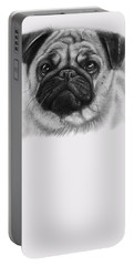 Cute Pug Portable Battery Charger