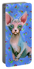 Cute Sphynx Portable Battery Charger