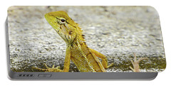 Cute Yellow Lizard Portable Battery Charger