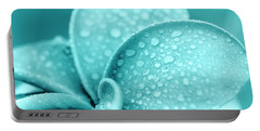 Aqua Plumeria Droplets Portable Battery Charger