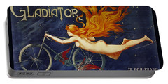 Cycles Gladiator  Vintage Cycling Poster Portable Battery Charger