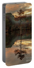 Cypress At Sunset Portable Battery Charger