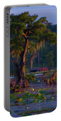 Cypress In The Sunset Portable Battery Charger