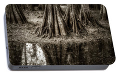 Portable Battery Charger featuring the photograph Cypress Island by Andy Crawford