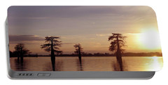 Cypress Sunset Portable Battery Charger by Sheila Ping