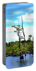 Portable Battery Charger featuring the photograph Cypress Trees by Tara Potts