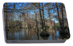 Portable Battery Charger featuring the photograph Cyprus Lake 2 by Gregory Daley  PPSA