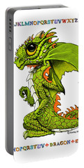 D Is For Dragon Portable Battery Charger by Stanley Morrison