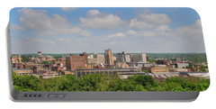 D39u118 Youngstown, Ohio Skyline Photo Portable Battery Charger