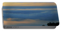 Portable Battery Charger featuring the photograph D8b6320 Mt. Diablo And Fog From Sonoma Mountain Ca by Ed Cooper Photography