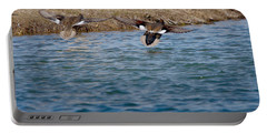 Gadwall Ducks - In Flight Side By Side Portable Battery Charger