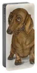 Dachshund Eyes Portable Battery Charger