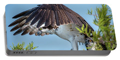 Portable Battery Charger featuring the photograph Daddy Osprey On Guard by Donald Brown