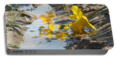 Daffodil And Reflection Portable Battery Charger by Karen Molenaar Terrell