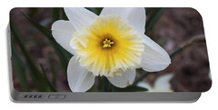 Portable Battery Charger featuring the photograph Daffodil At Black Creek by Jeff Severson
