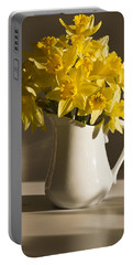 Daffodil Filled Jug Portable Battery Charger by Sandra Foster