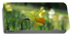 Daffodil Side Profile Portable Battery Charger