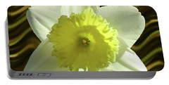 Daffodil Swirl Portable Battery Charger