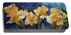 Daffodils Portable Battery Charger by Alika Kumar