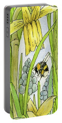 Daffodils And Bees Portable Battery Charger
