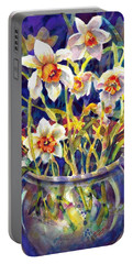 Daffodils And Lace Portable Battery Charger