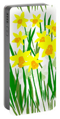 Daffodils Drawing Portable Battery Charger