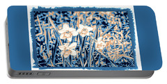 Daffodils In Print Portable Battery Charger