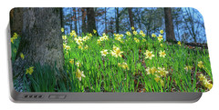 Daffodils On Hillside 2 Portable Battery Charger