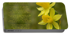 Daffodils Poem By William Wordsworth Portable Battery Charger