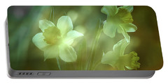 Daffodils1 Portable Battery Charger by Loni Collins