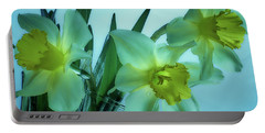 Daffodils2 Portable Battery Charger by Loni Collins