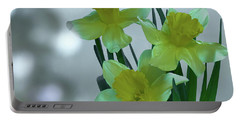 Daffodils3 Portable Battery Charger by Loni Collins