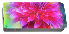 Dahlia Abstract Portable Battery Charger