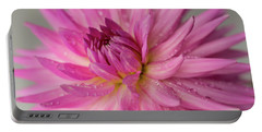 Portable Battery Charger featuring the photograph Dahlia After The Rain by Mary Jo Allen