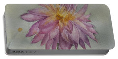 Portable Battery Charger featuring the painting Dahlia At Eastport Me by Donna Walsh