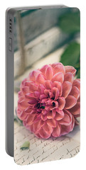 Dahlia Bloom Portable Battery Charger