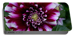 Dahlia Portable Battery Charger by Denise Romano