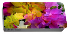 Portable Battery Charger featuring the digital art Dahlia Fantasy by Hanne Lore Koehler