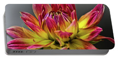 Portable Battery Charger featuring the photograph Dahlia Flame by Joann Copeland-Paul