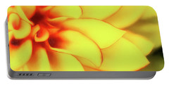 Dahlia Flower Abstract Portable Battery Charger