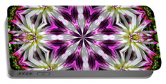 Dahlia Flower Circle Portable Battery Charger